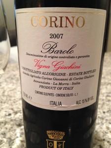 Giovanni Corino Barolo 2007